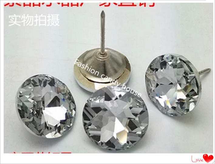 Furniture Accessories Crystal  Button Buckle Pouch Crystal Lens 20mm Background Wall Decoration