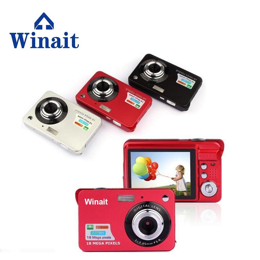 Winait MAX 18 мегапикселей цифровая видеокамера, 2,7 ''TFT дисплей/3mp cmos сенсор/4x цифровой зум Видео компактная камера