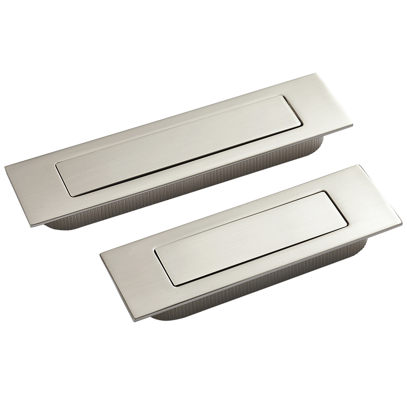 Brushed stainless steel Invisible,hidden Spring drawer /Sliding door handle Automatic closing dustproof,Hardware 1 pair viborg sus304 stainless steel heavy duty self closing invisible spring closer door hinge invisible hinges jv4 gs58b