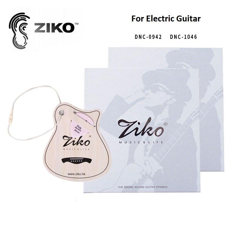 Ziko Carbon Nano Anti-Rust Coating Nickel Electric Guitar Strings 0942/1046 with Free Guitar Pick dunobil nano