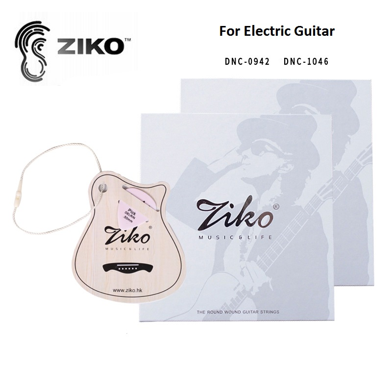 Ziko Carbon Nano Anti-Rust Coating Nickel Electric Guitar Strings 0942/1046 with Free Guitar Pick