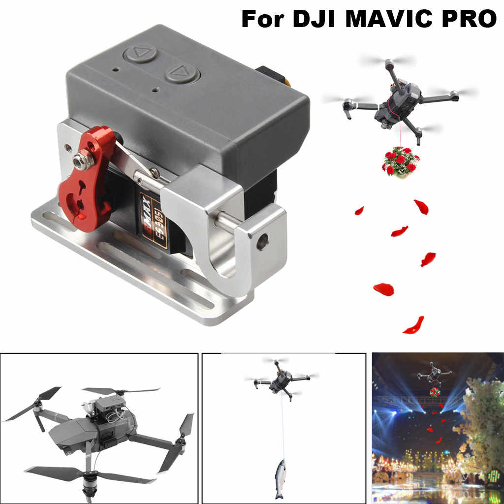 Drone Clip Upgrade Drone Clip Payload Delivery Drop Transport Device For Dji Mavic Pro Delivery Device Propeller Aliexpress