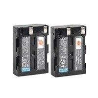 DSTE 2PCS D LI50 Rechargeable Battery for Pentax K20D K10D Camera