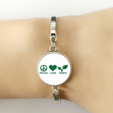 "Pretty ""Peace, Love, Vegan"" bracelets"