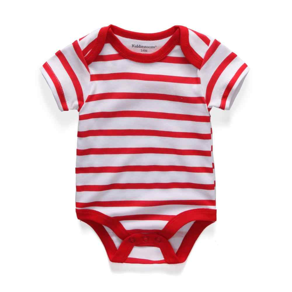5pcs เสื้อผ้าเด็ก 2019 เด็กทารก Rompers ทารกผ้าฝ้ายแขนสั้น Jumpsuits เด็กชายฤดูร้อนเด็กเสื้อผ้าชุด