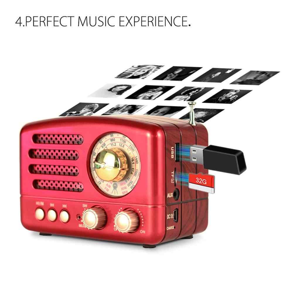 PRUNUS M-160BT Классическая Винтаж Фотофон в ретро стиле с изображением деревянного, такие как FM AM (MW) SW SD USB MP3 Bluetooth транзистор Перезаряжаемые радио с Динамик,