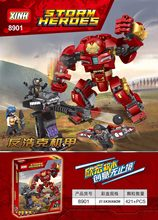 8901 Super Heroes Avengers 3 Age Of Ultron Big Iron Man Hulk Buster Smash compatible with 76104 Buiding Blocks Baby Toys(China)
