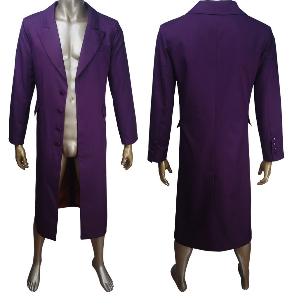 Supervillain clown Batman archenemy Joker cosplay costume overcoat outwear halloween make-up carnival costume Batman Suicide