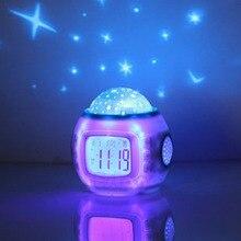 Projector-Lamp Alarm-Clock Night-Light Bedroom Sleeping-Sky Children Hot Music Star E74
