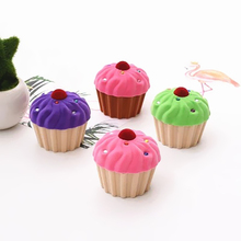 1pcs Mini Cake Lovely Velvet Ring Box Wedding Earrings Ring Box FashionJewelry Packaging Storage Display Case Gift boxes 4 color