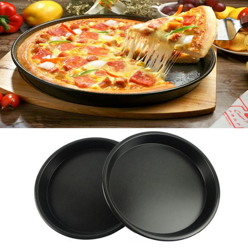 7 8 9 10 11 Inch Pizza Plate Baking Tools Tray Home Oven Microwave Use Non Stick Pan Dish In Inserts From Garden On