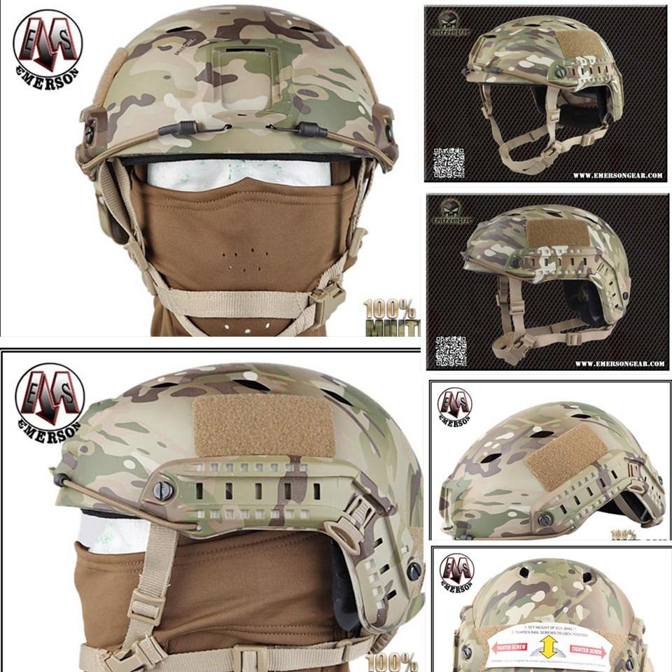 Tactical protective helmet Base Jump Helmet EMERSON FAST Helmet BJ TYPE Multicam EM5659D 2015 new kryptek typhon pilot fast helmet airsoft mh adjustable abs helmet ph0601 typhon