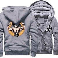 Fashion Hoodies Men Print Z Goku Dragon Ball 2018 Winter Fleece Thick Sweatshirts Male Harajuku Men