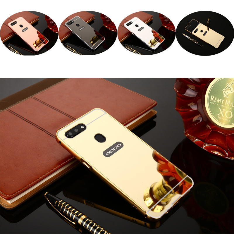 R15 Fashion Luxury Rose Gold Mirror Case For Cover OPPO R15(6.28) Case Phone Case For OPPO R15 R 15 Dream Mirror Case 6.28