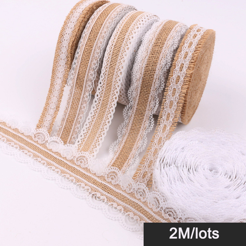 1 2 3 Metres Hessian Lace Trim Wedding Rustic Vintage Burlap Ribbon 60mm Wide