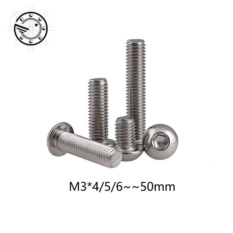 100pcs-m3-bolt-a2-70-button-head-socket-screw-bolt-sus304-stainless-steel-m3-4-5-6-8-10-12-14-16-18-20-22-25-30-35-40-45-50-mm