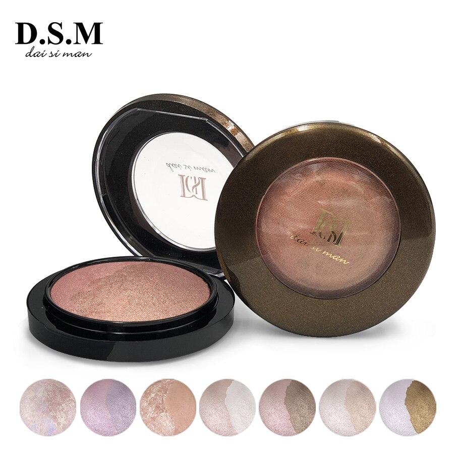 D.S.M Beliebte Highlighter Mineralisieren Pulver Erhellen Wasserdicht Gesicht Make-Up Hervorhebung Erröten Kosmetische Bronzer und Highlighter