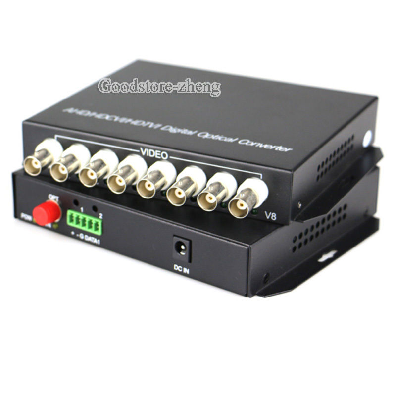 1 pairs 8 Channel HDCVI / AHD Video data Fiber Converters with RS485 FC/Single mode цены онлайн