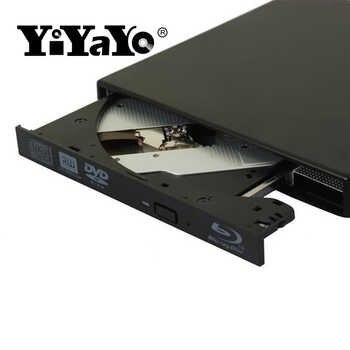 YiYaYo 外部ブルーレイ Dvd ドライブ、ライターバーナー再生 3D 映画スリム WINDOWS XP/7/8/10 Macbook のノートパソコンの光学ドライブ