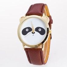 Nouveau 2017 Étudiant Couple Lovers Coréenne Style Quartz Montre pour Garçons Filles Vente Chaude De Mode Mignon Panda Poignet montres