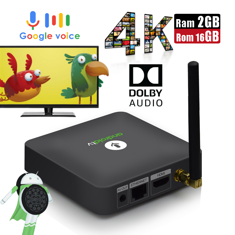 MECOOL KM8 ATV Dolby Audio Android 8.0 Google Cast Smart TV Box 2G 16G Google Voice Remote Control Bluetooth 4.2 Set-top Box mecool smart 4k ultra hd 2g 16g android 7 1 movie wifi google cast netflix quad core voice remote global version set top box