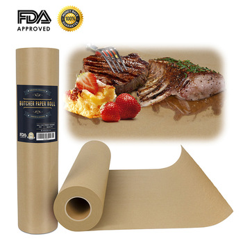 Popular Barbecue Paper Butcher Kraft Paper Roll Steak Paper Carry Tube FDA Certification Approved for BBQ Meat Baking Food