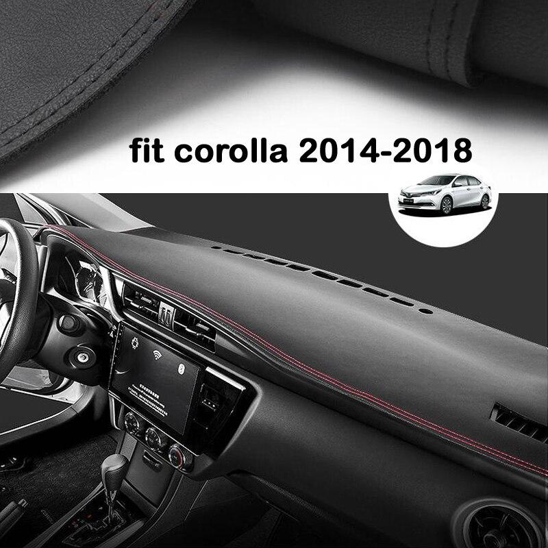 Pour Toyota Corolla 2014 2016 2017 2018 voiture tableau de bord éviter Pad de lumière Instrument plate-forme couverture de bureau tapis accessoires