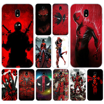 167H Cool Marvel Hero Deadpool Soft Silicone Tpu Cover phone Case for Samsung j3 j5 j7 2016 2017 a3 2016 a5 2017 a6 2018 image