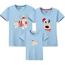 Одежда для папы и сына; одинаковые рождественские комплекты для всей семьи; футболка с короткими рукавами для мамы и дочки; семейный костюм для папы, мамы и ребенка