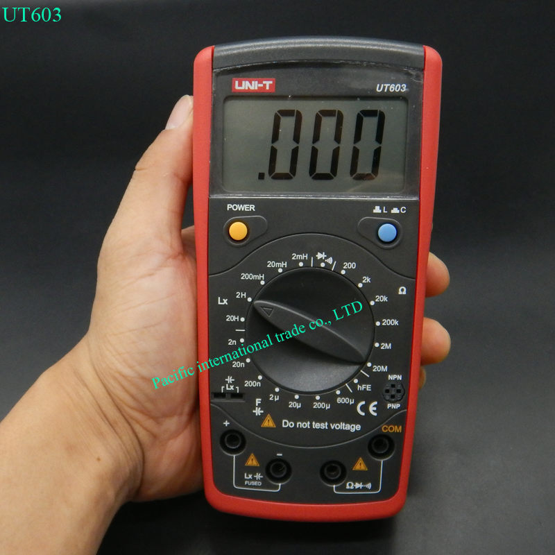 UNI-T UT603 Modern Resistance Inductance Capacitance Meters Testers LCR Meter Capacitors Ohmmeter w/hFE Test victor 6243 capacitance resistance inductance digital modern professional inductance capacitance meters lr meter ohmmeter