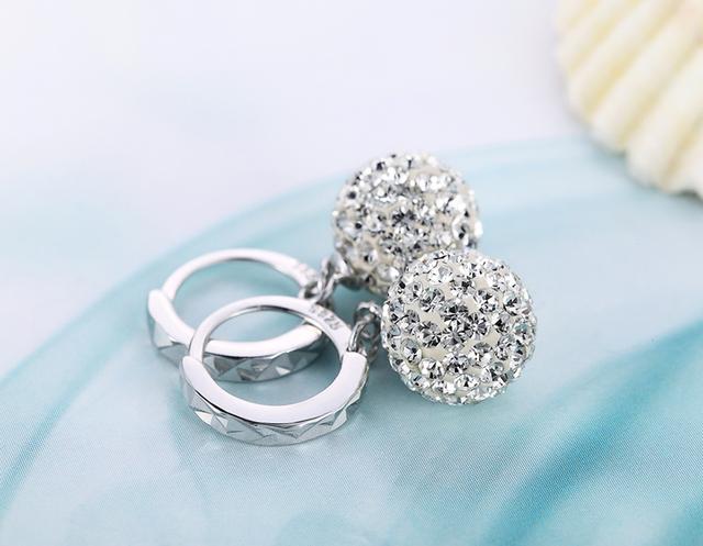 Luxury Crystal Shamballa Ball Earrings