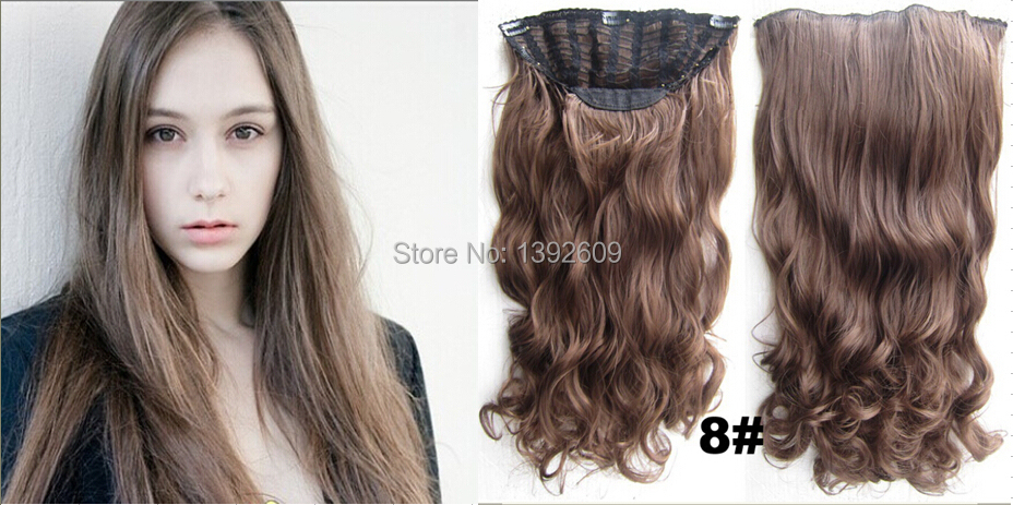Online shop 24inch 130g long curly hair extension clip in hair online shop 24inch 130g long curly hair extension clip in hair extensions 7 clips sexy 8 medium brownmedium ash brown aliexpress mobile pmusecretfo Gallery