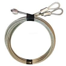 2,5 мм идеальная безопасность SK7112 гаражная дверь удлинитель комплект 2 оцинкованные стальные оплетки кабели, S крючки