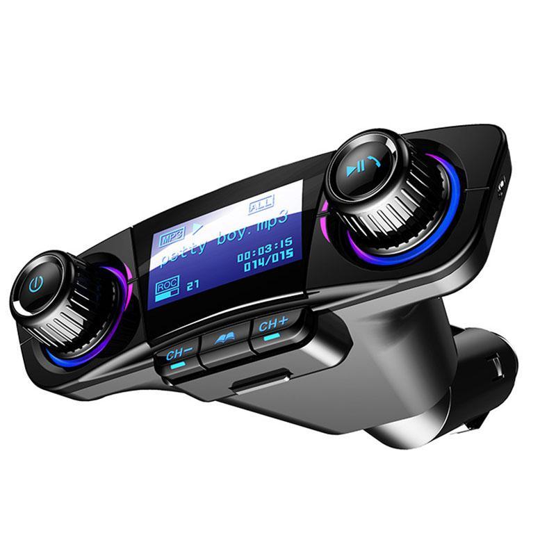 Автомобильный fm передатчик Aux модулятор Bluetooth Handsfree автомобильный комплект MP3 плеер автомобильный прикуриватель дисплей напряжения двойное зарядное устройство usb-in FM-трансмиттеры from Автомобили и мотоциклы