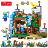 378pcs Minecrafted Figures Building Blocks Mine World 4 In 1 Garden City Building Bricks Toys Compatible