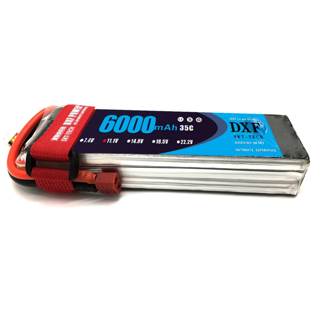 DXF Good Quality 11.1V <font><b>6000mAh</b></font> <font><b>3S</b></font> <font><b>Lipo</b></font> <font><b>Battery</b></font> 35C Max60C for RC Airplane Helicopter Quadrotor AKKU car truck boat RC drone image