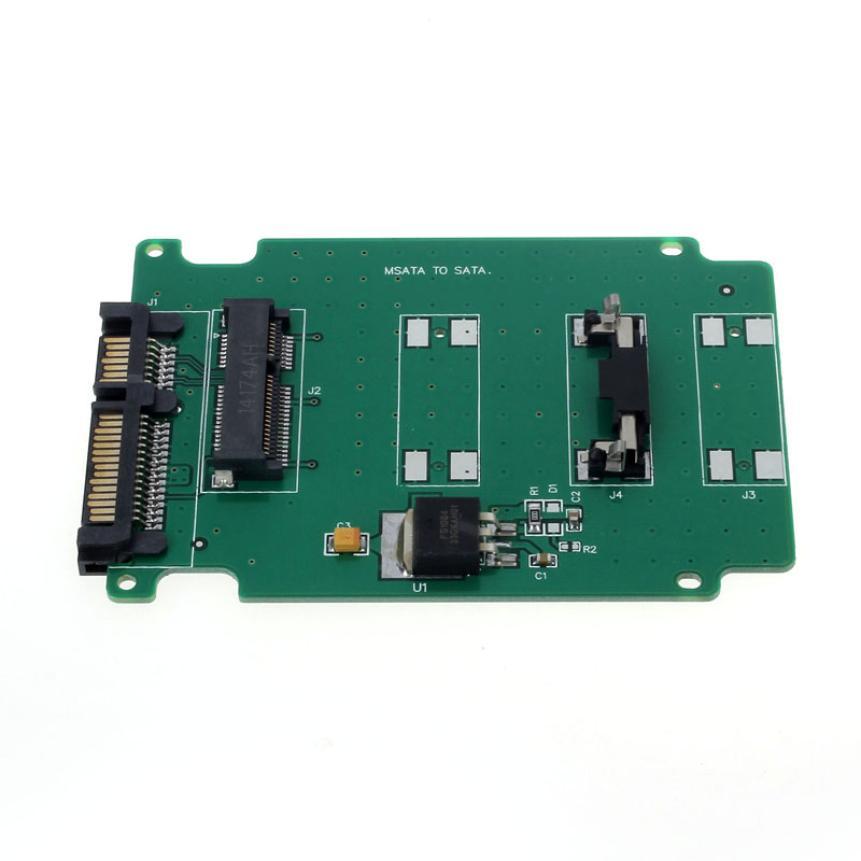 MOSUNX Futural Digital Hot Selling 1PC mSATA Mini PCI-E SATA SSD To 7+15 Pin 22 pin SATA Adapter Card Drop Shipping F35