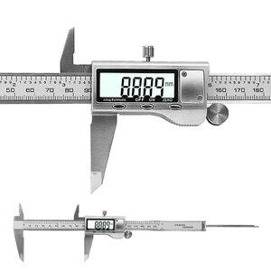 "Image 4 - 8 ""200 مللي متر فرجار رقمي الفولاذ المقاوم للصدأ الرقمية LCD الفرجار الورنية الفرجار الشحن مع التجزئة + صندوق"