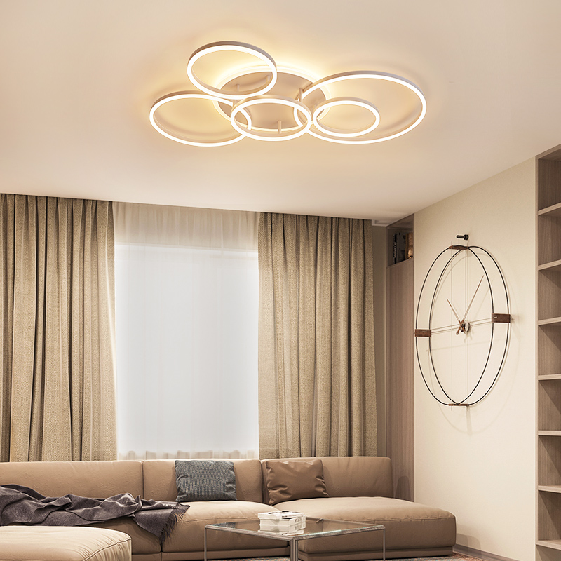 YANGHANG акриловые современные светодиодные потолочные лампы для гостиной спальни плафон светодиодное Домашнее освещение потолочный светиль... - 2