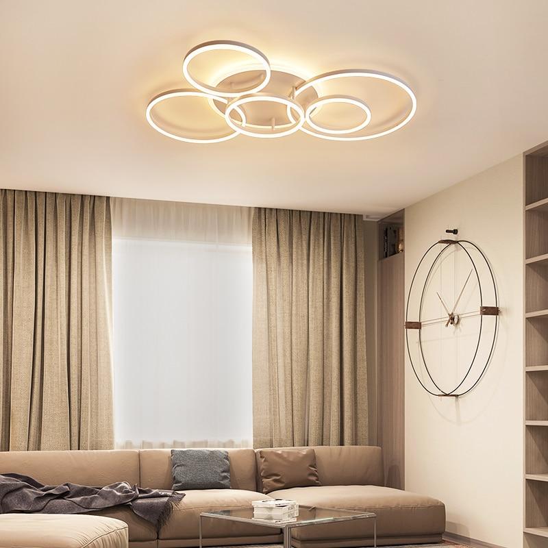 Yanghang acrílico moderno led luzes de teto para sala estar quarto plafon led casa iluminação da lâmpada do teto luminárias - 2