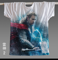 [XHTWCY] High Quality 2019 Marvel Thor America Super Hero American Flag T shirt jersey Men USA clothing Breathable