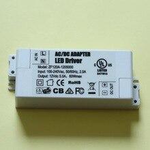 20 шт./лот, 12 V 5A, 60 W Светодиодный драйвер MR16 внешний источник питания 3528/5050 светодиодный полоски