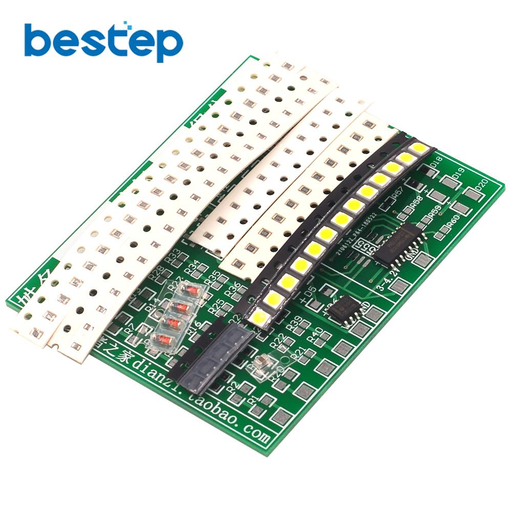(Welding practice) SMD Component Board CD4017 Water Light Kit Skills Training Entry Electronic Training Parts