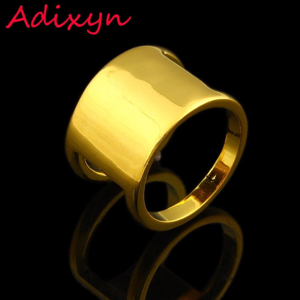 Новый дизайн золото гладкой Кольца Для женщин Для мужчин золото Цвет палец кольцо Индии/эфиопских африканском стиле/в нигерийском стиле/Из...