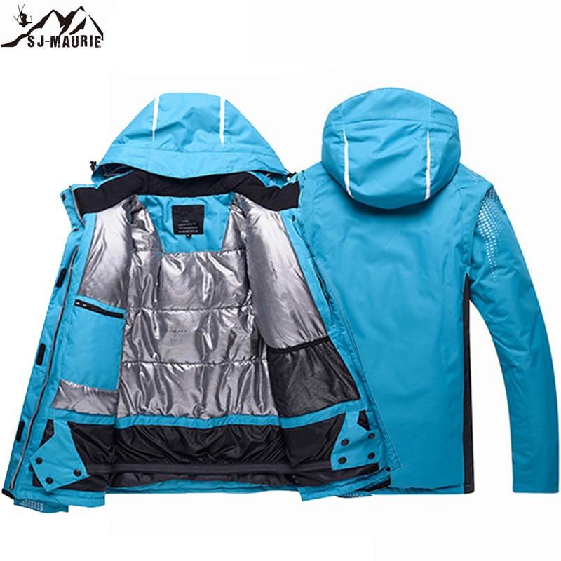 2019 Hiver Unisexe Ski Vestes Respirant Snowboard Manteau Super Chaud Femmes Coupe-Vent Imperméable Sport Usure Ski Vestes