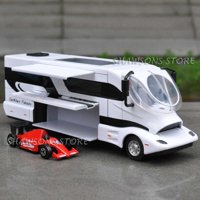 1:50 DIECAST LUXURY RV MODEL TOYS PULL BACK ELEMMENT PALAZZO CAMPER VAN REPLICA SOUND LIGHT