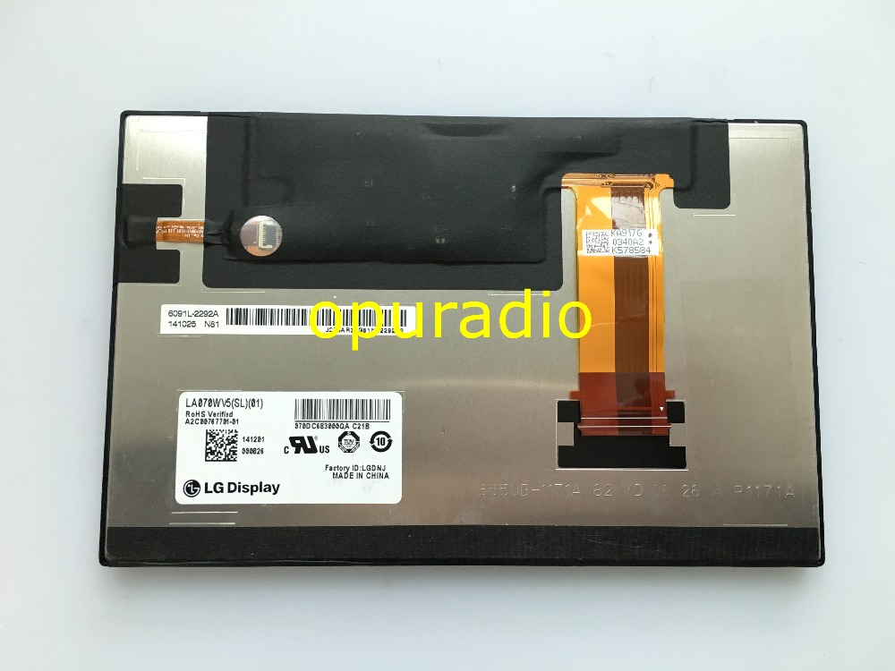 Free post Original new L G 7 0inch LCD display LA070WV5 SL01 LA070WV5 screen for car