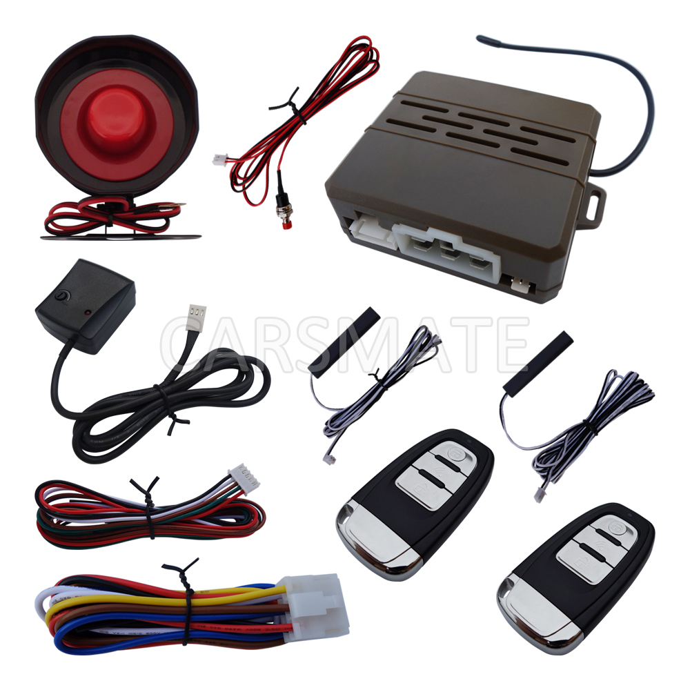 ФОТО New Hopping Code PKE Car Alarm System With Auto Central Lock Remote Trunk Release & Car Alarm Siren In Stock