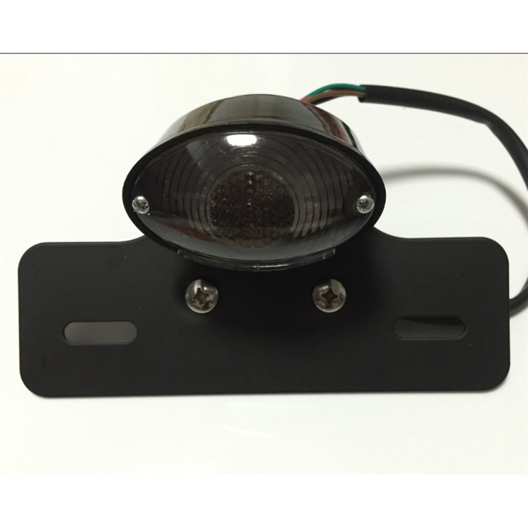 retro black ellipse smoke lens with metal bracket moto indicator flashers motorcycle tail light for harley LED moto brake light