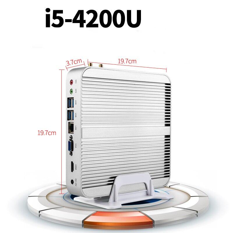 Haswell core i54200u 22nm sin ventilador mini pc de la computadora de escritorio
